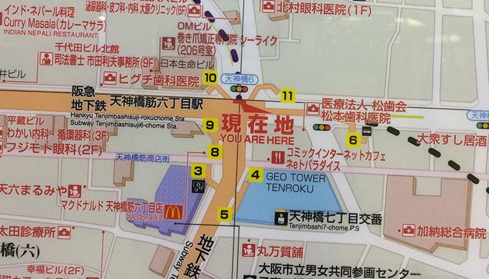 駅構内の拡大地図2